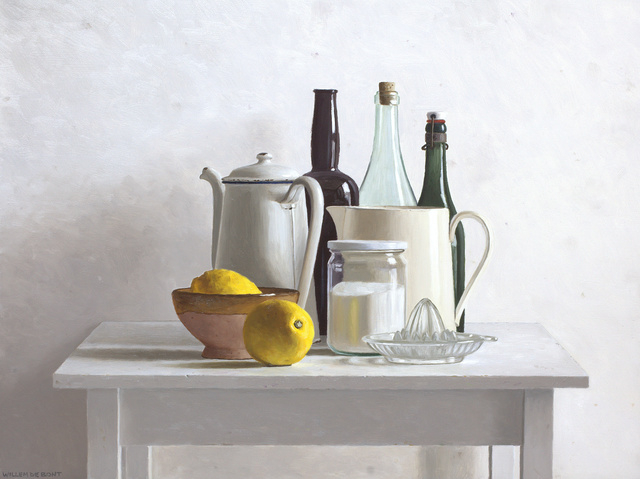 , 'Table, 2 lemons and lemon squeezer,' 2018, Smelik & Stokking Galleries
