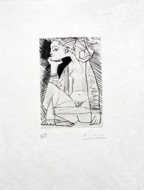 , 'Femme assise en tailleur: Geneviève Laporte,' 1951, John Szoke