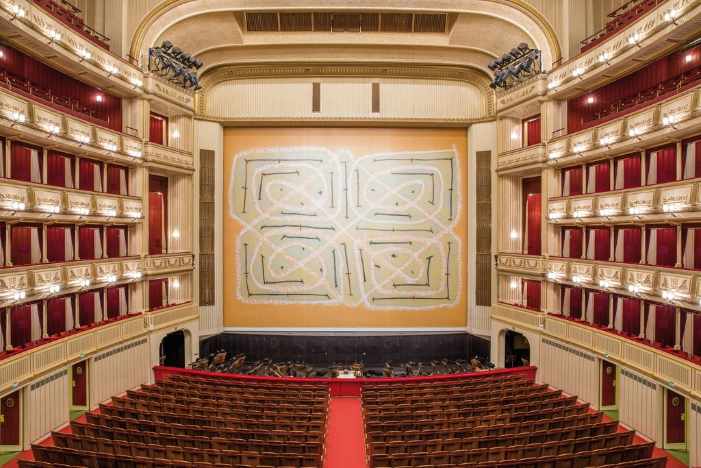 Joan Jonas, Safety Curtain 2014/2015, Vienna State Opera, Photo: Andreas Scheiblecker, © museum in progress (www.mip.at)