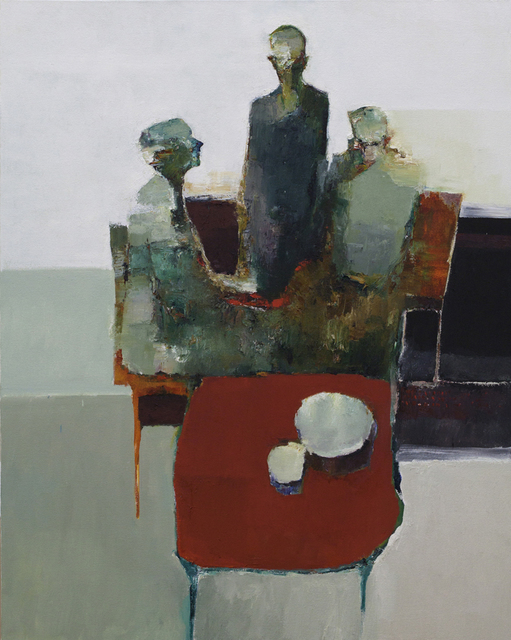 , 'Red Table II,' 2016, Sue Greenwood Fine Art