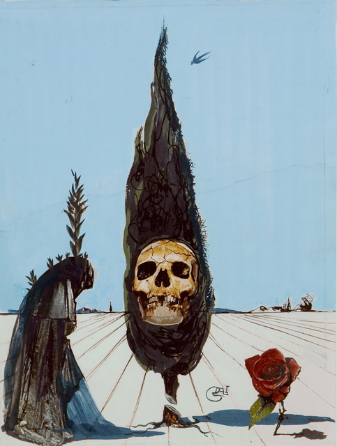 Salvador Dalí, 'Death', 1984, Drawing, Collage or other Work on Paper, Gouache on paper, Opera Gallery Gallery Auction