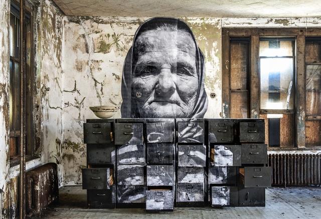 , 'Unframed, Czech grand mother in Ellis Island revu par JR, courtesy of National Park Service, Statue of Liberty National Monument, U.S.A., 2014,' 2014, Jeffrey Deitch