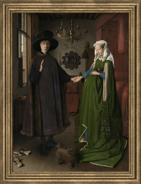 Jan van Eyck, 'Portrait of Giovanni Arnolfini and his Wife', (Date unknown), Reproduction, Giclee, ArtWise