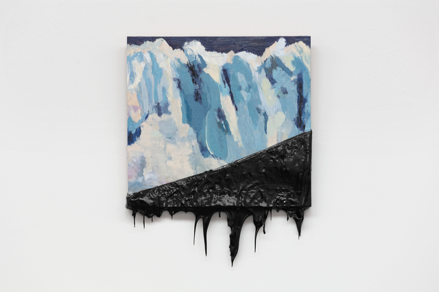 Minerva Cuevas, 'Glacier II', 2020, Painting, Oil on canvas dipped in chapopote, kurimanzutto
