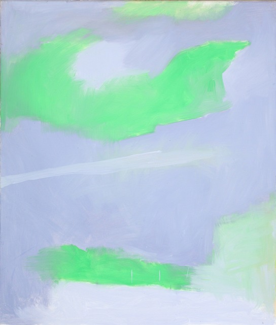 Esteban Vicente, 'Vision With Green,' 1996, Heather Gaudio Fine Art