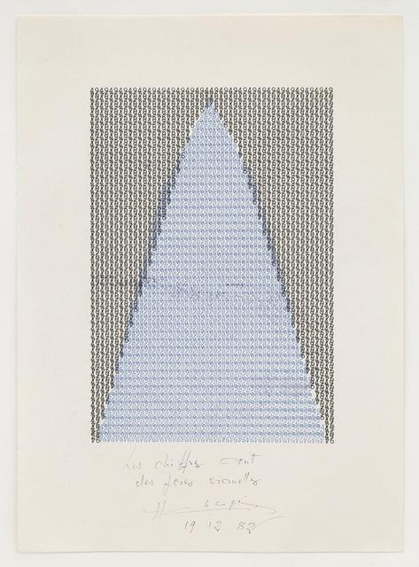 , 'Les chiffres sont des foies visuelles,' 1975, Richard Saltoun