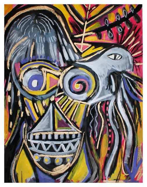 , 'Le golem souriant et le parasite,' 2017, Galerie Claire Corcia