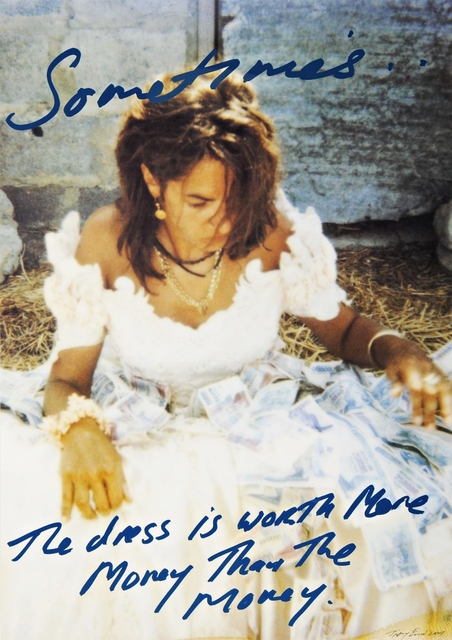 Tracey Emin, 'Sometimes the Dress is Worth More Money than the Money ', 2001, Alpha 137 Gallery