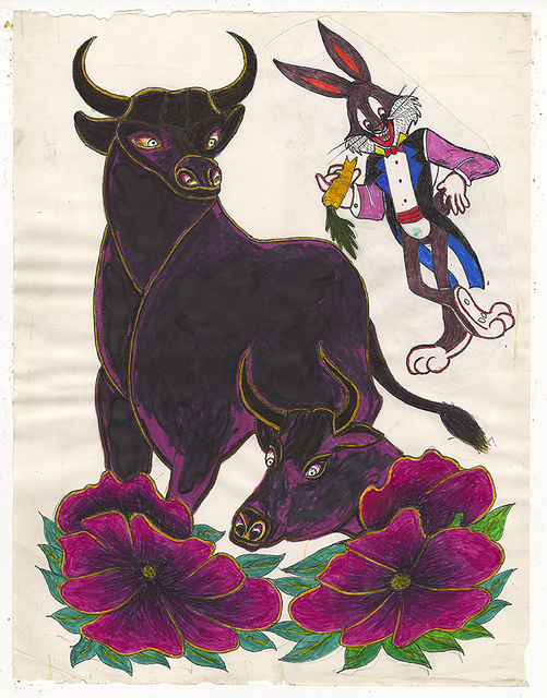 , 'Untitled (Bulls and Bugs Bunny),' 1950-1980, Ricco/Maresca Gallery
