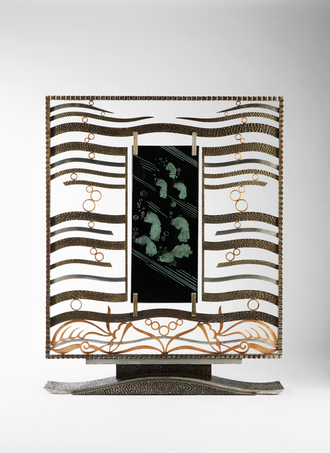 , 'Art Deco Screen,' ca. 1930, Fine Art Silver
