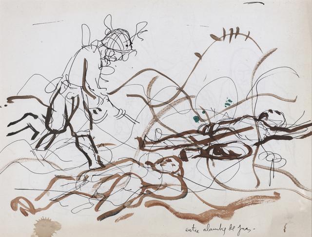 """Antonio Berni, 'Entre los alambres de púas. De la serie """" Guerra de Corea""""', ca. 1965, Cosmocosa"""
