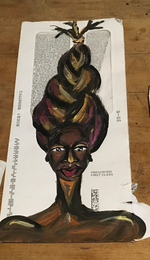 envelope painting #74: everywhere i look i see g-d & she is in my eyes