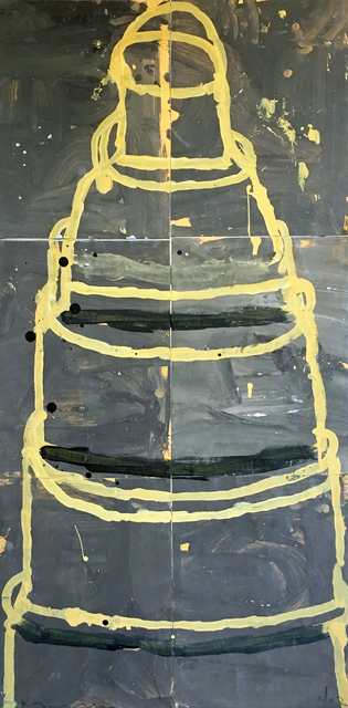 , 'Cake (Yellow on Grey),' 2002, Madelyn Jordon Fine Art