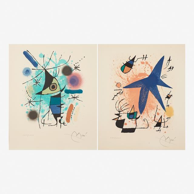 Joan Miró, 'Le Chanteur and L'étoile Bleue', 1972, Rago/Wright