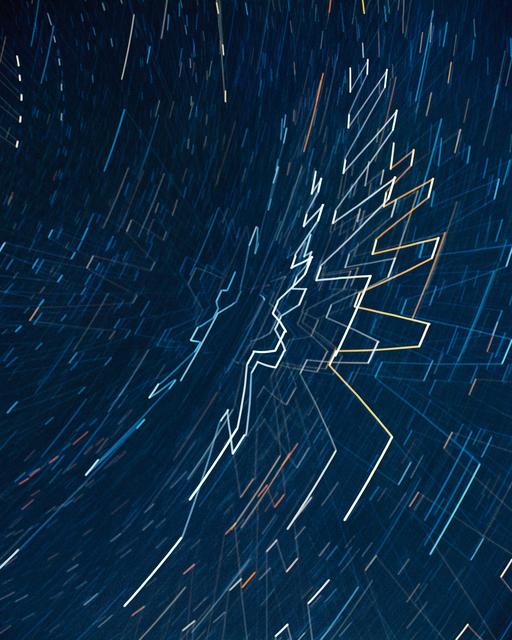 , 'Starlight Drawing (Track),' 2017, REITER