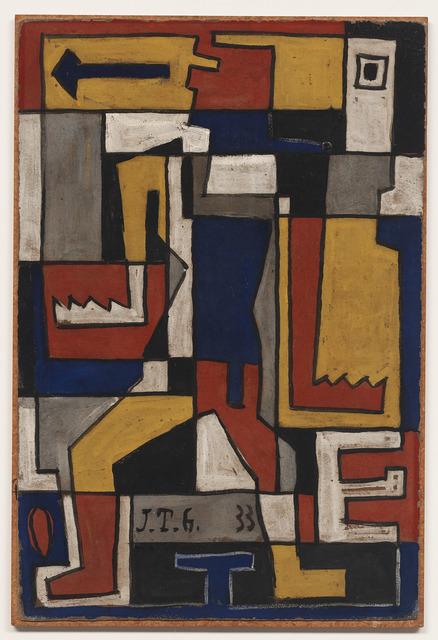 Joaquín Torres-García, 'Formas trabadas con figura humana', 1933, DICKINSON