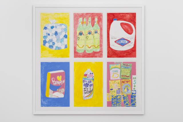 , 'Ice, Presidente, Clorox, Pampers, Fabuloso, and Lotto Study,' 2017, Pilar Corrias Gallery