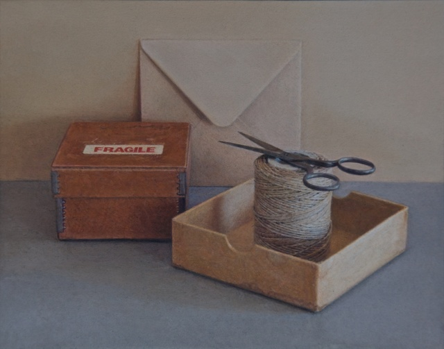 Lucy Mackenzie, 'Fragile Box with Scissors', 2009, Painting, Oil on board, Nancy Hoffman Gallery