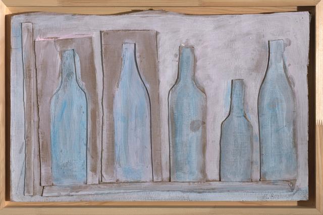 , 'Light blue bottle on beige background,' 1978, Art4.ru