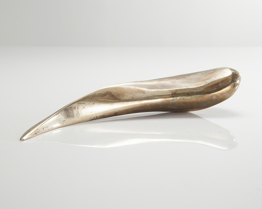Sculptural medium centaur horn form in bronze