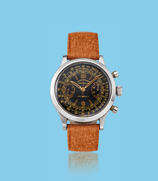 , 'Stainless steel chronograph wristwatch, ref. 3525,' ca. 1940, Davide Parmegiani Fine Watches