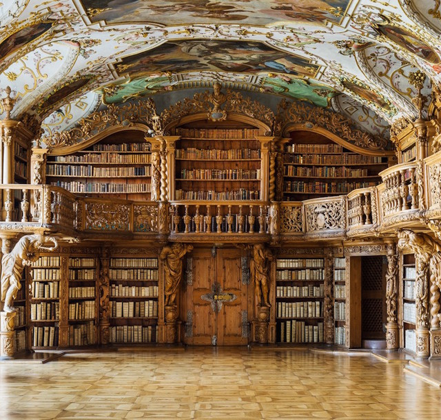 , 'Library of the Abbey in Waldsassen, Bavaria,' 2015, K + Y Gallery
