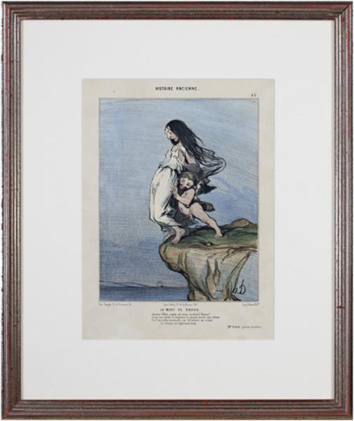 , 'Histoire Ancienne (Plate No. 49) LA MORT DE SAPHO 2nd State (rare) Delteil #973,' 1843, David Barnett Gallery