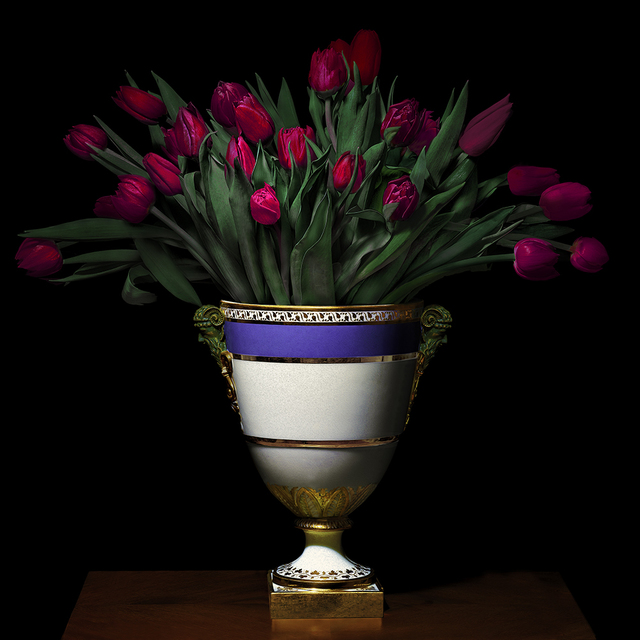 , 'Tulips in a Blue, White and Gold Vessel,' 2018, Galerie de Bellefeuille