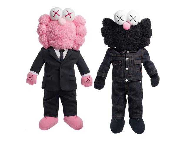 KAWS, 'Dior BFF Plush Pink and Black ', 2018, Maddox Gallery