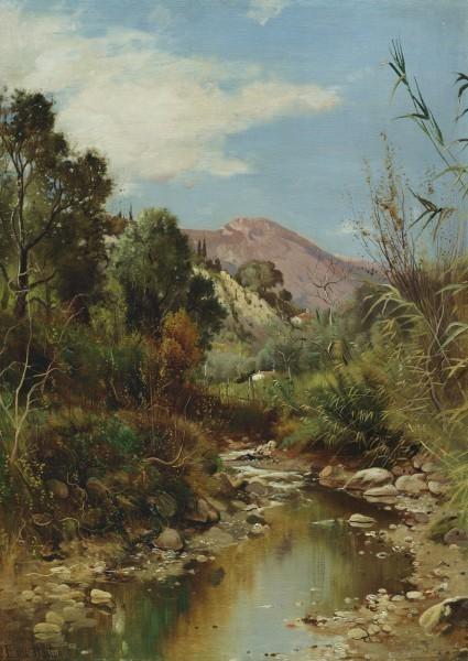 , 'Winding Stream,' 1898, Questroyal Fine Art