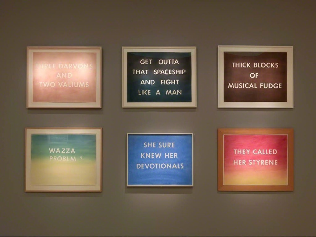 Artwork © Ed Ruscha. Photo by Rob McKeever. Courtesy of the artist and Gagosian.