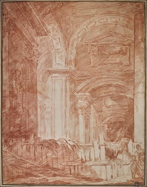 , 'Eglise transformée en fenil,' 18th century, Didier Aaron