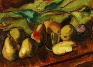 , 'Still Life of Pears and Tulips,' ca. 1936, Christopher Kingzett Fine Art