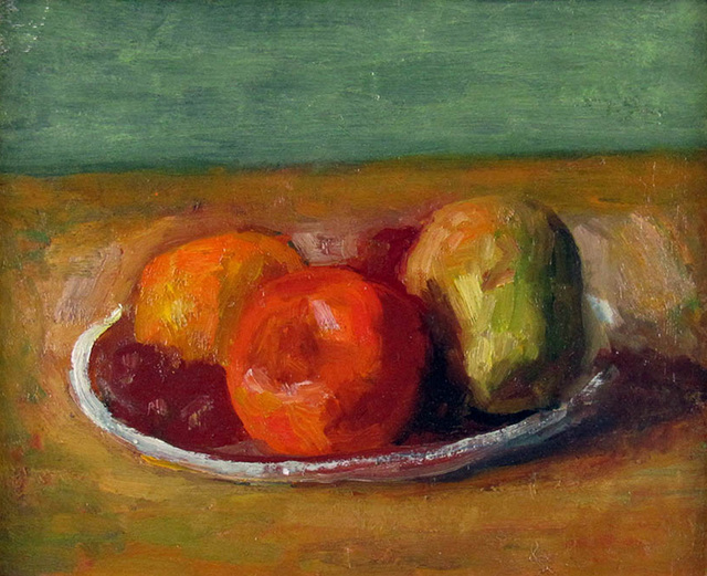 Robert Philipp, 'Fruit on a Plate', 1960, Painting, Oil on Board, Janus Galleries