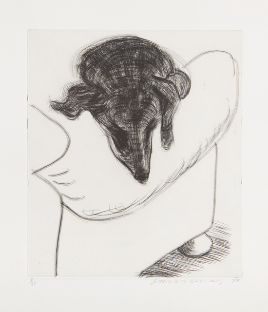 David Hockney, 'Dog Etching No. 10, from Dog Wall', 1998, Print, Etching, on Somerset paper, with full margins, Phillips