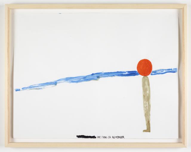 Chris Johanson, 'One Thing to Remember', 2011, Galleri Nicolai Wallner
