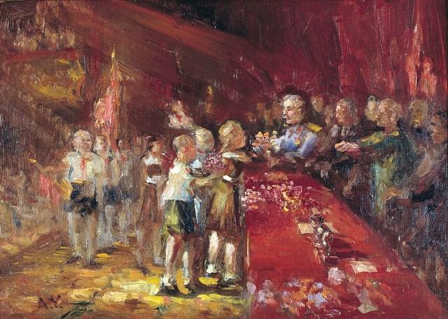 Aleksandr Nikiforovich Chervonenko, 'Flowers for Stalin', 1960, Surikov Foundation