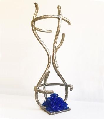 Juan Garaizabal, 'Glass Memory I', 2018, Sculpture, Steel and Blue Raw Glass, Bogena Galerie