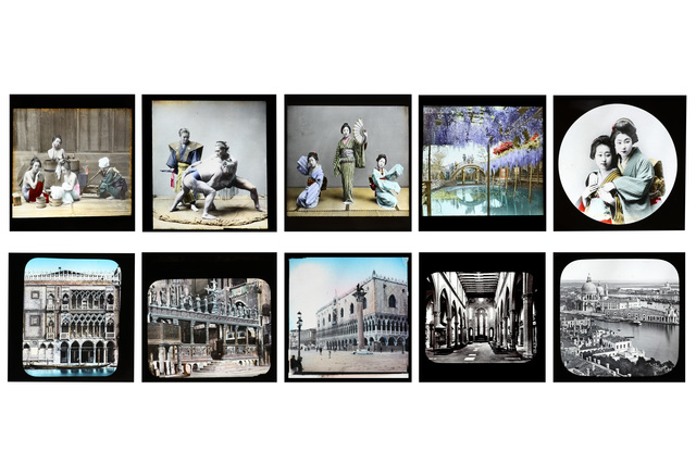 'A Selection Of Hand Coloured Japanese Magic Lantern Slides', Chiswick Auctions