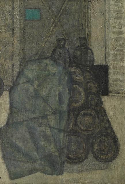 , 'Barrels in a Yard,' ca. 1954, Osborne Samuel