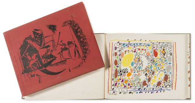 Pablo Picasso, 'Jamie Sebartes. A los Toros Mit Picasso (Bloch 1014-47; Cramer 113)', 1961, Print, The book, comprising 4 lithographs, one printed in colours, Forum Auctions