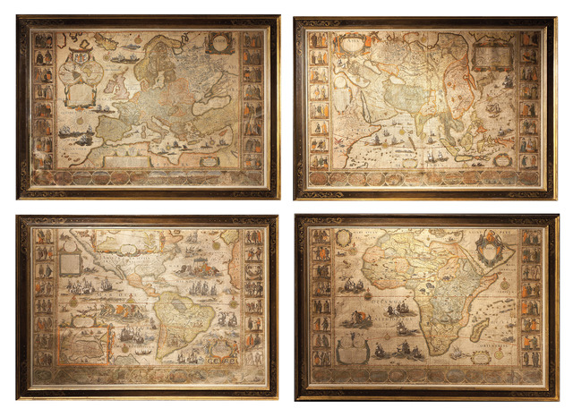 , '[Set of the maps of the four continents].,' ca. 1646, Daniel Crouch Rare Books