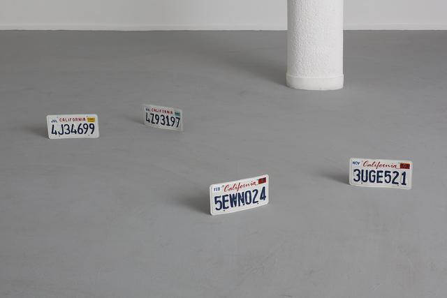 , 'Untitled (car plates),' 2013, Dvir Gallery