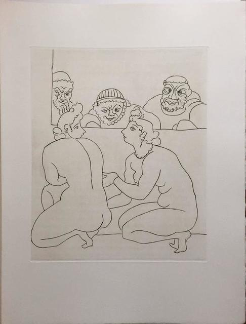 André Derain, 'Erotic Nude - Etching from Le Satyricon', 20th Century, Lions Gallery