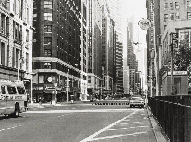 , '100 Boots Cross Herald Square,' 1973, Richard Saltoun