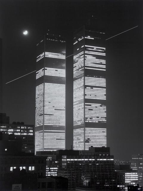 Monika Baumgartl, 'World Trade Center, mit Mond und Flugschneise #31, 1978', print date: 2019, Michael Hoppen Gallery