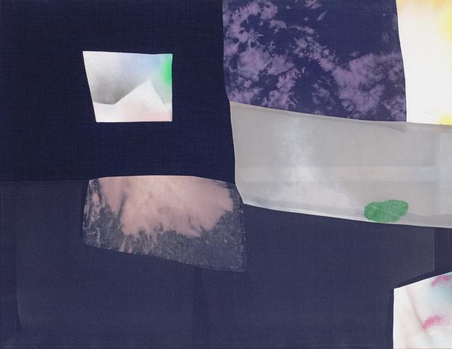 Fay Shin, 'Night Landing', 2020, Painting, Man suit, cotton, canvas, silk, spray, silk thread, GALLERY SU: