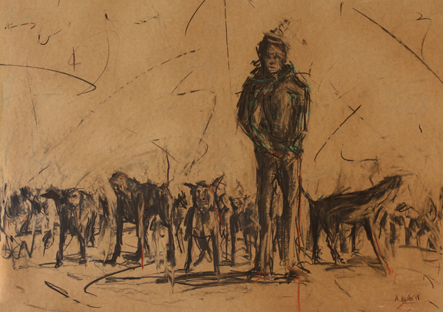 Asanda Kupa, 'Humans and Monkeys, Dog eat Dog', 2018, Guns and Rain