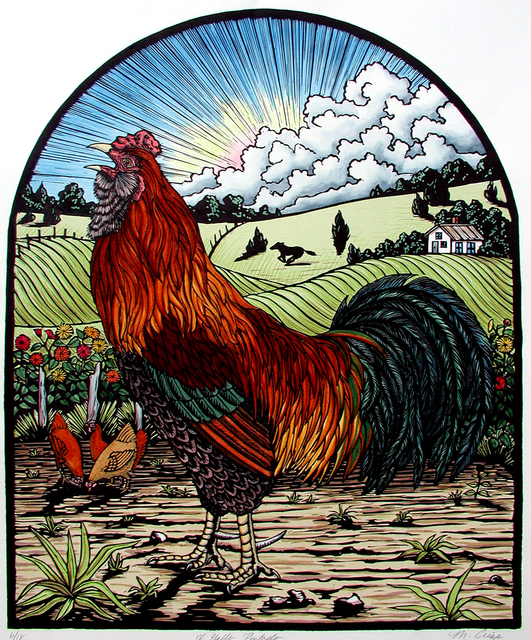 Margie Crisp, 'El Gallo Pintado', 2004, Valley House Gallery & Sculpture Garden