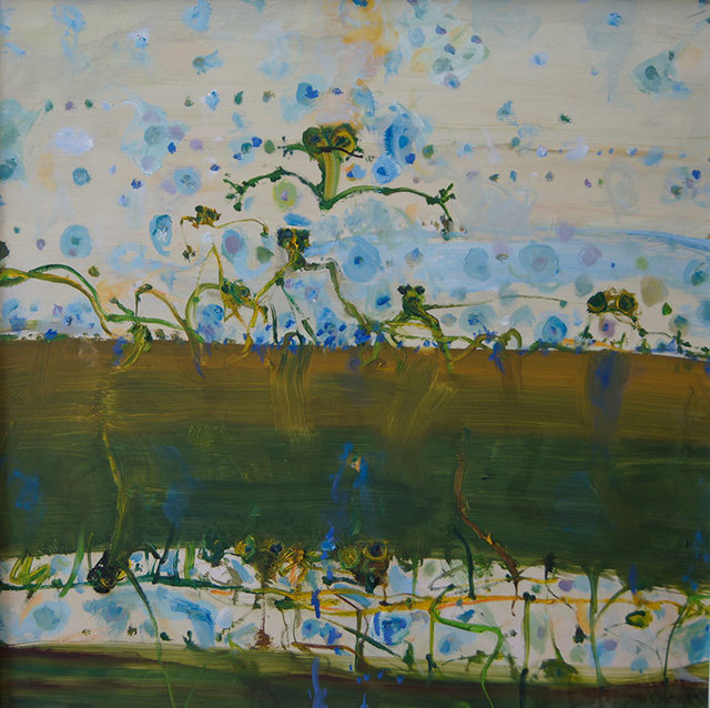 John Olsen (b.1928), 'Queensland Lilypond', 2003, Painting, Oil on board,  Olsen Irwin